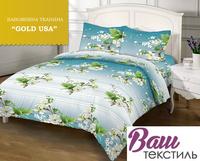 Комплект постельного белья Zastelli 7697 Вишня в цвету бязь Gold USA