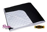 Two-sided soldered Bedspread ZASTELLI Black-White Silk фото