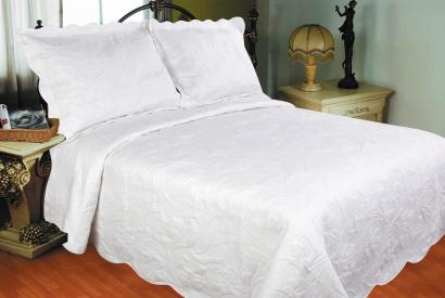 Bedspread ZASTELLI 743 Cotton white фото 2
