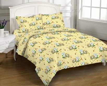 Постельное белье Zastelli 8815 Влюбленные совушки бязь Премиум фото 2