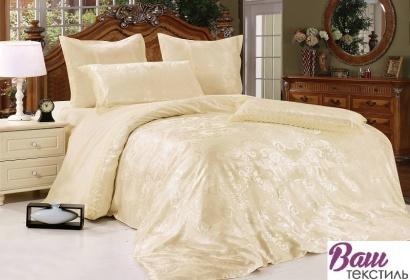 Золотой Комплект постельного белья Word of Dream JQ11 Жаккард фото