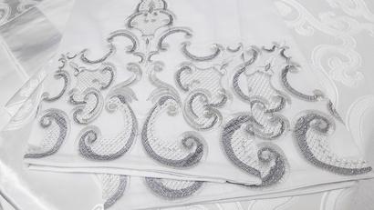 Постельное белье Word of Dream Снежный FSM406 Жаккард белый  фото 5