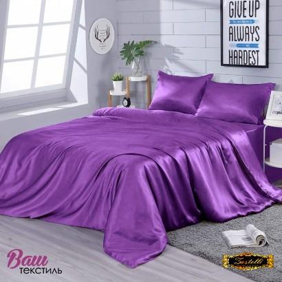 Постельное белье Zastelli Eggplunt шелк темно-фиолетовый фото 3