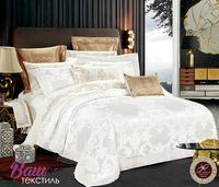 Комплект белого постельного белья Word of Dream FSM520 Богатство Жаккард с вышивкой