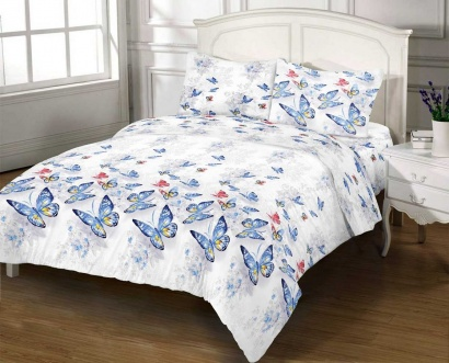 Bed linen set Zastelli 20807 Butterfly Cotton фото 3