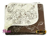 Soldered two-sided cotton Bedspread ZASTELLI 5509 and 5510 brown