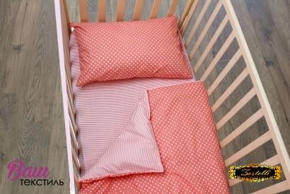 Постельное белье для новорожденных Zastelli 137+139 Розовое в горошек фото 4