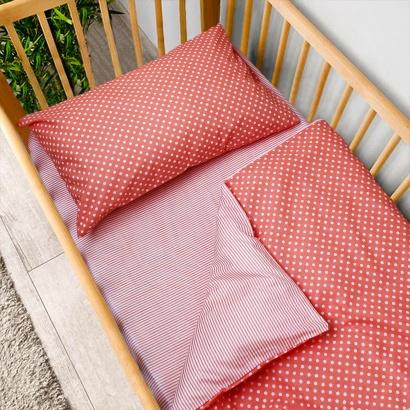 Постельное белье для новорожденных Zastelli 137+139 Розовое в горошек фото 2