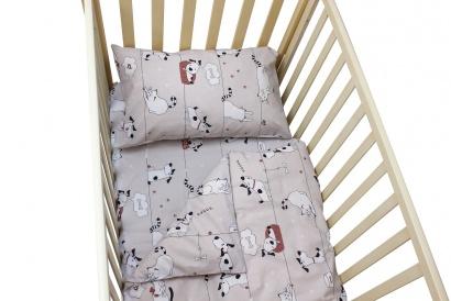 Постельное белье для новорожденных Zastelli 229 Котики-Собачки бязь  фото 11