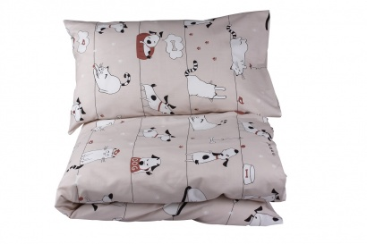 Постельное белье для новорожденных Zastelli 229 Котики-Собачки бязь  фото 10