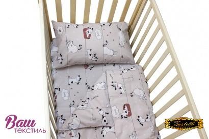 Постельное белье для новорожденных Zastelli 229 Котики-Собачки бязь  фото 7