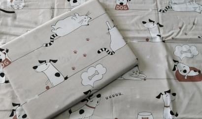 Постельное белье для новорожденных Zastelli 229 Котики-Собачки бязь  фото 6