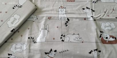 Постельное белье для новорожденных Zastelli 229 Котики-Собачки бязь  фото 5