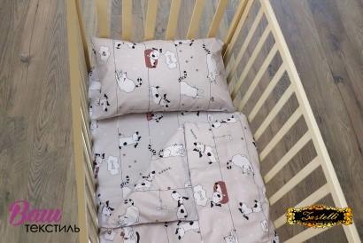 Постельное белье для новорожденных Zastelli 229 Котики-Собачки бязь  фото 4