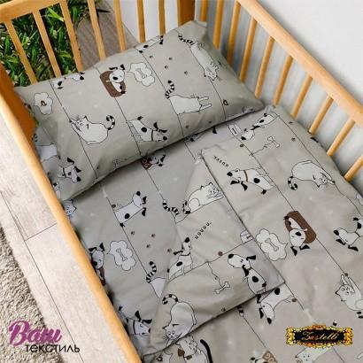 Постельное белье для новорожденных Zastelli 229 Котики-Собачки бязь  фото