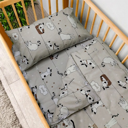 Постельное белье для новорожденных Zastelli 229 Котики-Собачки бязь  фото 2