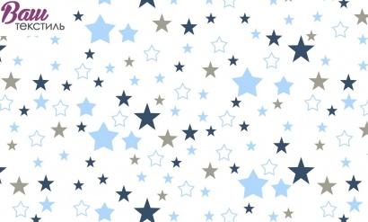 Постельное белье для новорожденных Zastelli 365 Космос бязь  фото 7