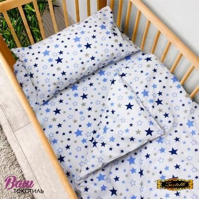 Постельное белье для новорожденных Zastelli 365 Космос бязь  фото