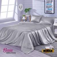 Постельное белье Zastelli Gainsboro шелк серый фото