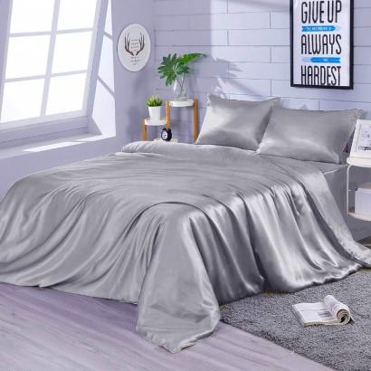 Постельное белье Zastelli Gainsboro шелк серый фото 2