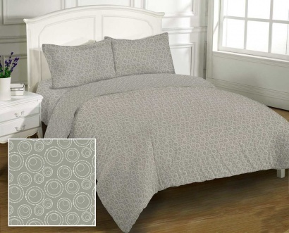Bed linen set Zastelli Bubble Grey Cotton фото 2