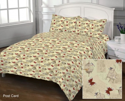 Bed linen set Zastelli 105 Post Card Cotton фото 3