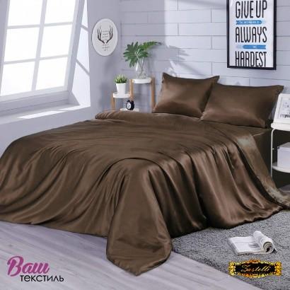 Silk bed linen Zastelli Chocolate фото