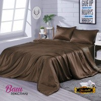 Silk bed linen Zastelli Chocolate фото