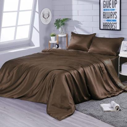 Silk bed linen Zastelli Chocolate фото 2