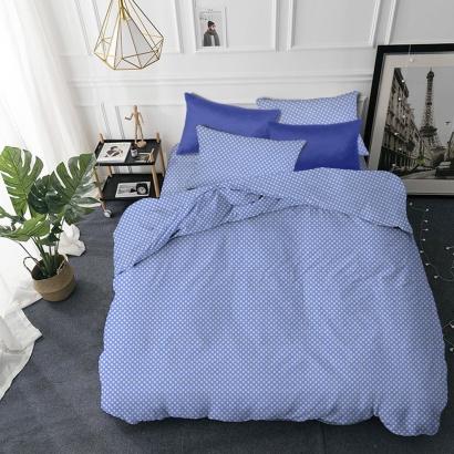 Детское постельное белье Zastelli 26 Горошек на голубом бязь  фото 2