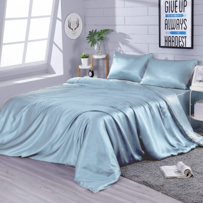 Silk Bed Linen Blue Zastelli  фото 2