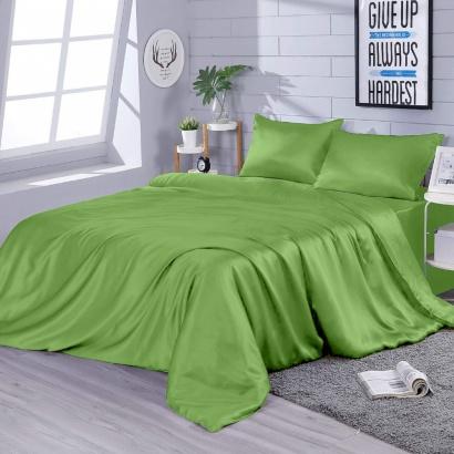 Постільна білизна Zastelli Pear шовк зелений фото 2