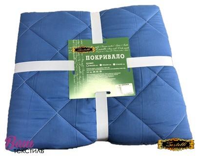 Two-sided bedspread Zastelli Blue-White фото