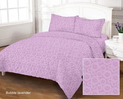 Bed linen set ZASTELLI Bubble Lavander Cotton Gold USA фото 5