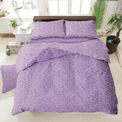 Bed linen set ZASTELLI Bubble Lavander Cotton Gold USA фото 2