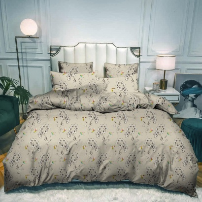 Bed linen set ZASTELLI 5258 Cotton Gold USA фото 2