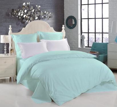 Bed linen set Zastelli 20 White Peas on Mint poplin фото 2