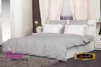 Bed linen set Zastelli 49 White Stars on Grey poplin  фото