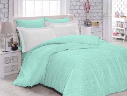 Bed linen set Zastelli 58 White Stars on Mint poplin фото 3