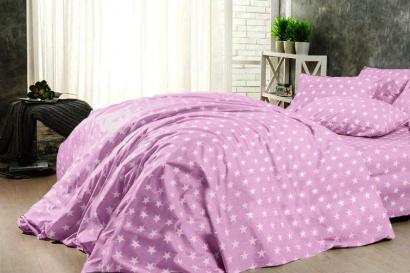 Постельное белье Zastelli 51 серые звезды на розовом Поплин  фото 2