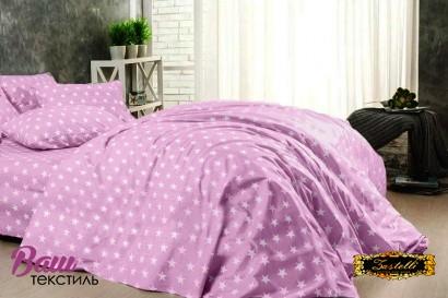 Постільна білизна Zastelli 51 сірi зірки на рожевому поплiн фото