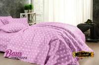 Постельное белье Zastelli 51 серые звезды на розовом Поплин  фото