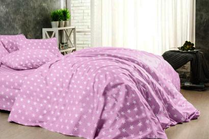 Постільна білизна Zastelli 51 сірi зірки на рожевому поплiн фото 2