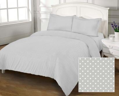 Bed linen set Zastelli 41 White Peas On Grey poplin фото 5