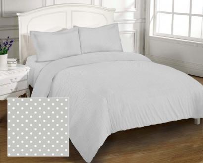 Bed linen set Zastelli 41 White Peas On Grey poplin фото 2