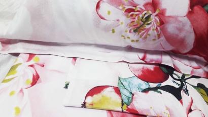 Дизайнерское постельное белье Word of Dream 348 Яблони в цвету Сатин фото 5