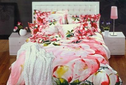 Дизайнерское постельное белье Word of Dream 348 Яблони в цвету Сатин фото 2