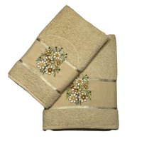 Terry towels set Vende Chamomile Beige			 фото