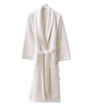 Women's terry bathrobe Zugo Home Long Twist Bayan White			 фото