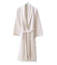 Жіночий махровий халат Zugo Home Long Twist Bayan білий фото